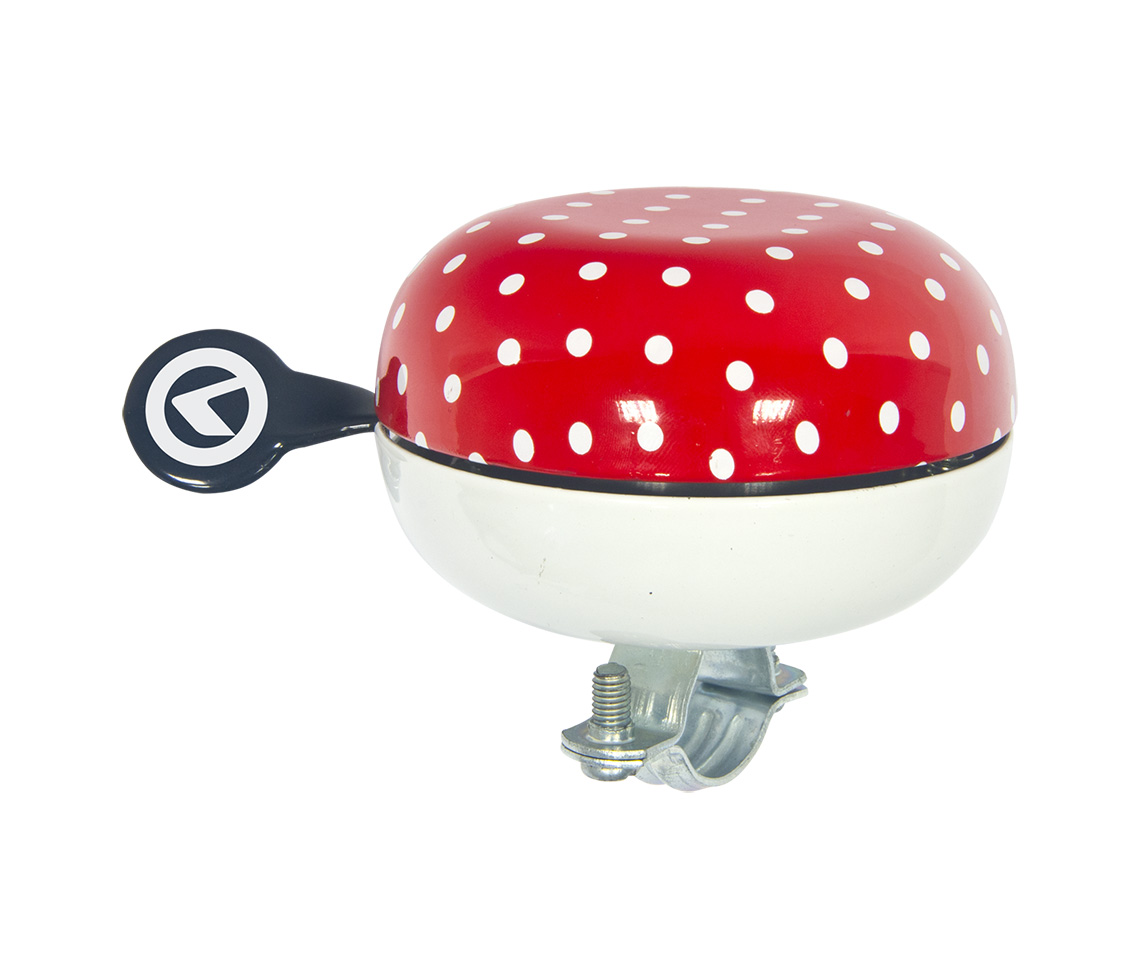 Bicycle bell KELLYS Bell 80 red dots