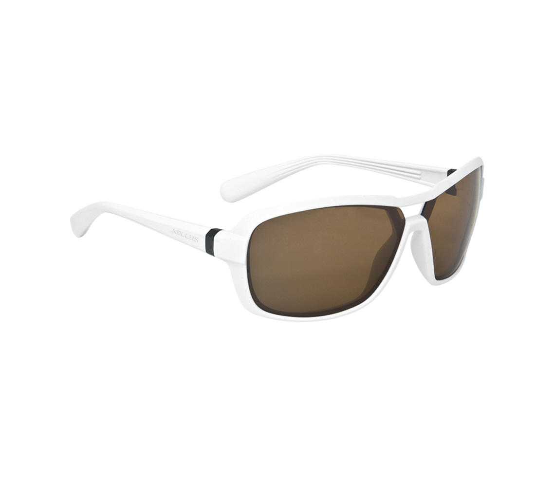 Sonnenbrille GLANCE - Shiny White POLARIZED