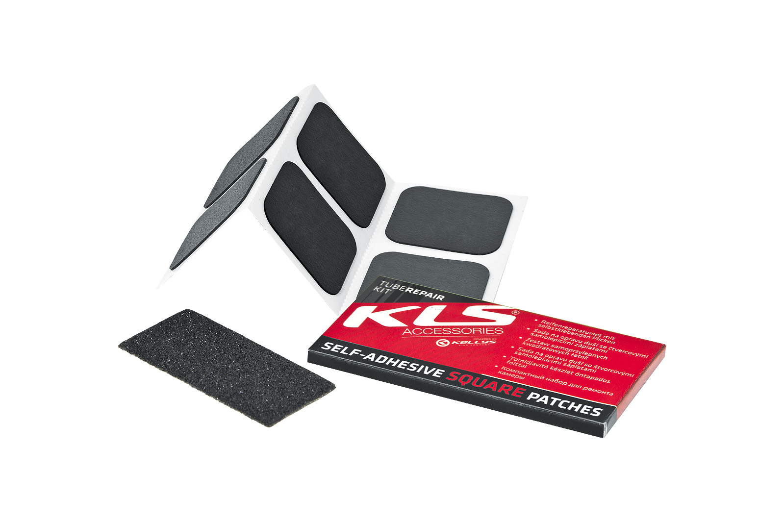 TUBE REPAIR KIT WITH SELF-ADHESIVE SQUARE PATCHES
