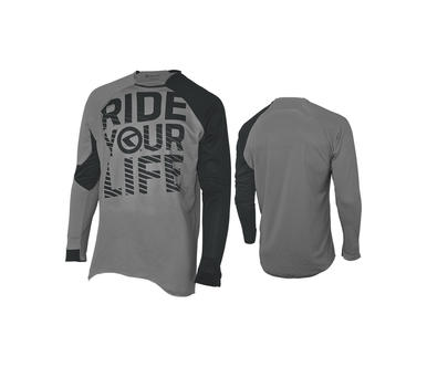 RIDE YOUR LIFE grey [long sleeve]