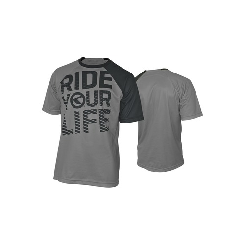 RIDE YOUR LIFE grey [Short Sleeve]