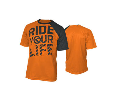 RIDE YOUR LIFE orange [krátky rukáv]