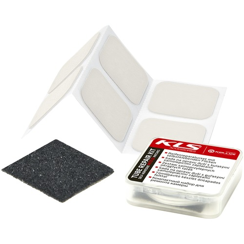 MTB TUBE REPAIR KIT WITH SELF-ADHESIVE SQUARE PATCHES
