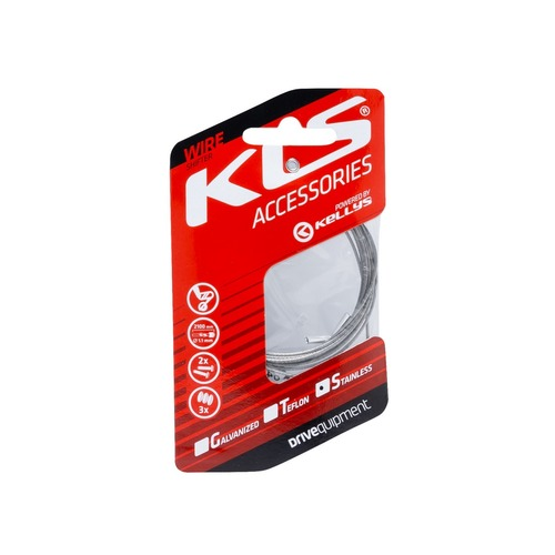 Inner cable for derailleurs KLS 210 cm, stainless, 1pc