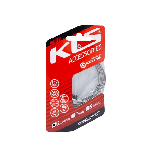 Inner brake cable KLS MTB+ROAD 200 cm, galvanized, 1pc